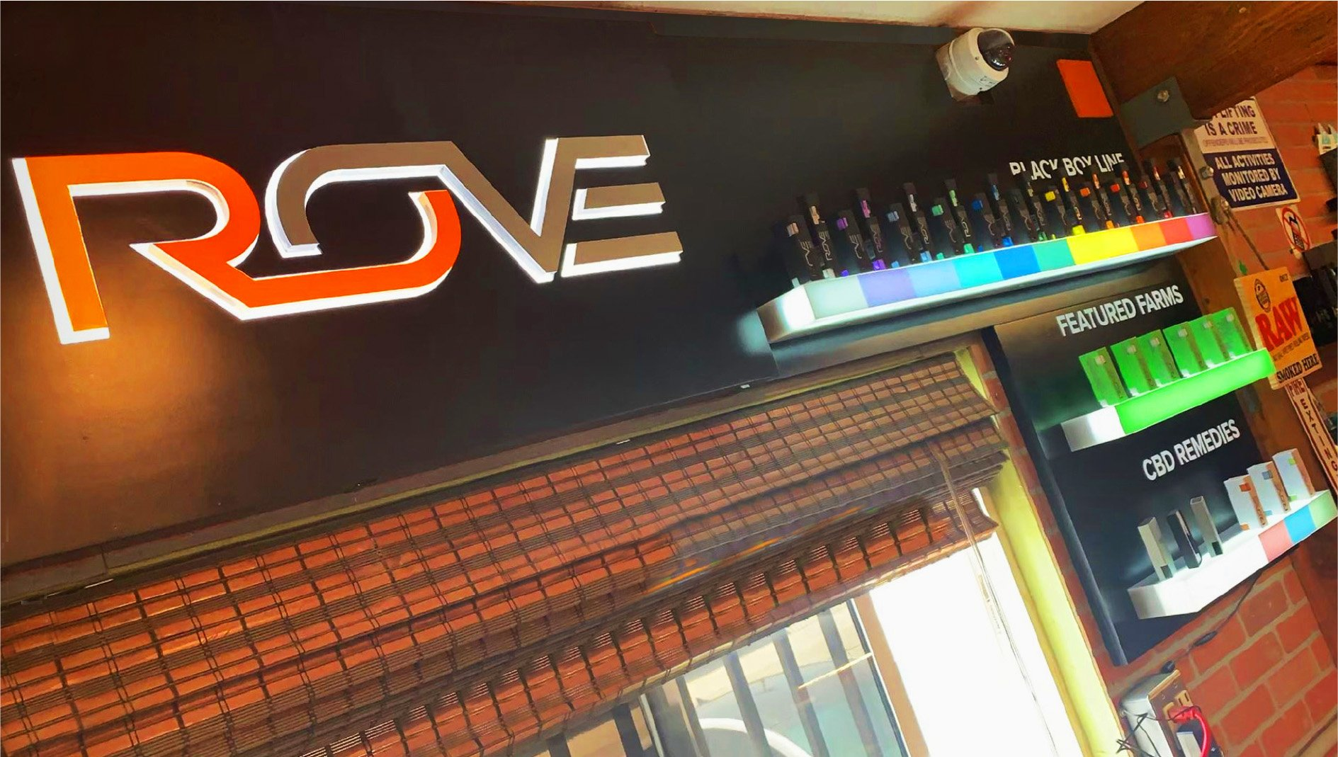 Rove Brand in-store lighted display