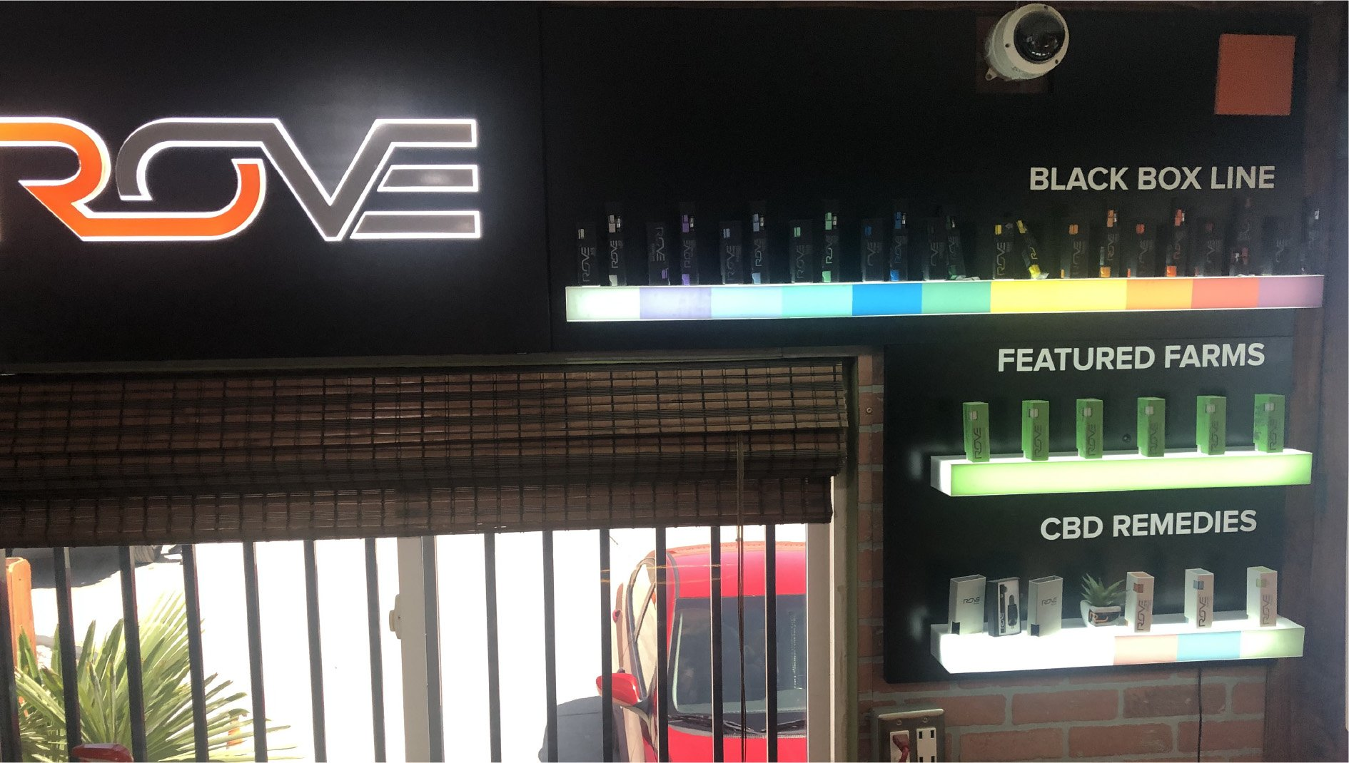 Rove Brand In-Store Display Wall